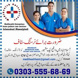 Required home patient care Nursing staff/paramedics/Dispenser /LHV/