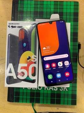 Samsung A50.s ram 6/128 lengkap garansi