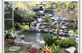 Spesialis pembuatan kolam ikan relip dan kolam ikan minimalis
