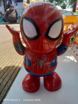 Mainan anak dance robot spiderman