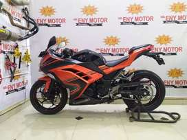 Stock terbatas Kawasaki Ninja 250 FI th 2014 km 7 rb orange super