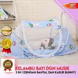 Tempat Tidur Kelambu Bayi Series 3in1 Dengan Kasur Dan Bantal