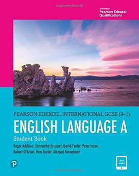 English Language A Student Book (Edexcel IGCSE Program) for Grade 9 &