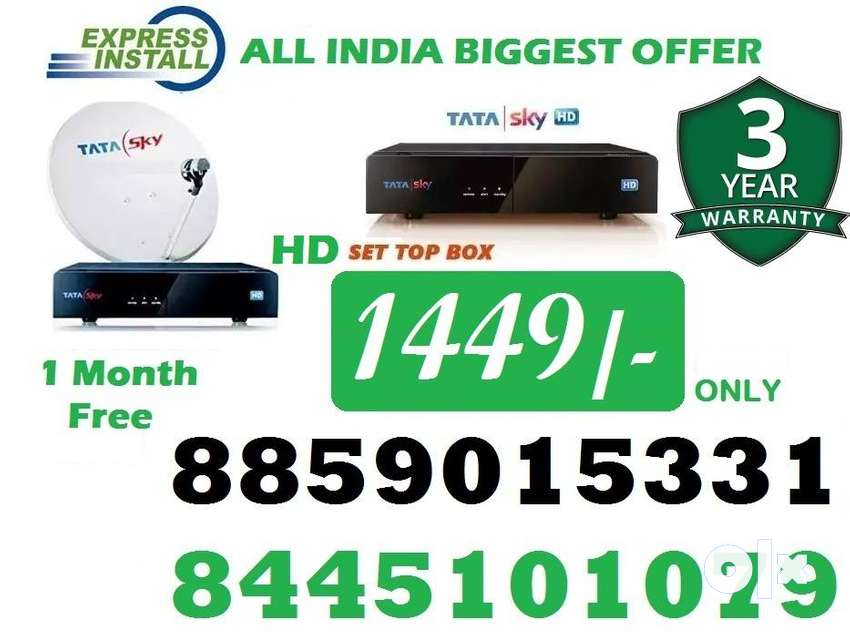 Tata Sky New HD BOX-Tatasky Dish tv D2H videocon Dishtv DTH-All India 0
