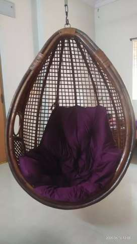 Cane Swing Chair /Zula with Cushion