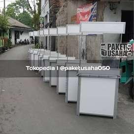 booth portable gerobak meja jualan- meja lipat container event desk