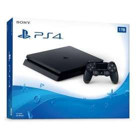 Sony ps4 slim 1TB, 2 controller. 3 playstation physical dvd games