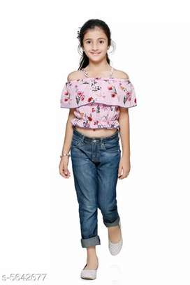 Stylish kids girl tops