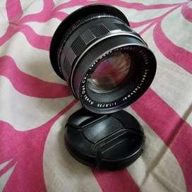 Lensa Super Takumar Super Bokeh Fix 55mm Plus adaptor for Canon