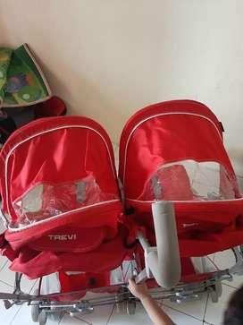 Stroller Anak Kembar Stroller Travi Stroller Bayi Bukan Joe