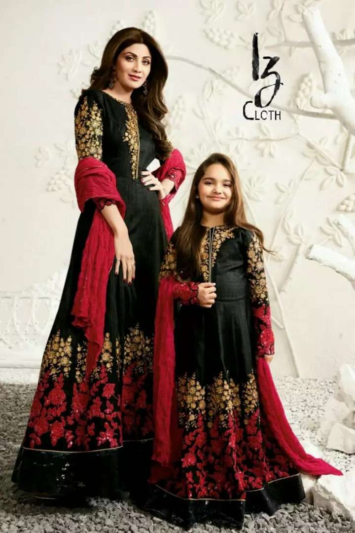 Ladies chiffon 3 piece embroidered suits 0