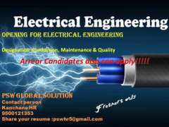 opening for Electrical and Electronics Freshers in MNC