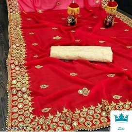 New Saree Red