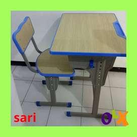 D10 meja kursi sekolah besi murah untuk SMP/ SMA/ SD murah
