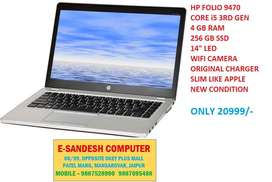 "HP FOLIO 9470 CORE i5 4 GB RAM 256 GB SSD 14""LED SUPER SLIM LAPTOP"