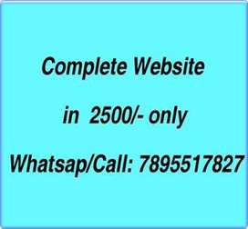 Website in 2500/-,domain web hosting,5 pages, Mobile SEO friendly
