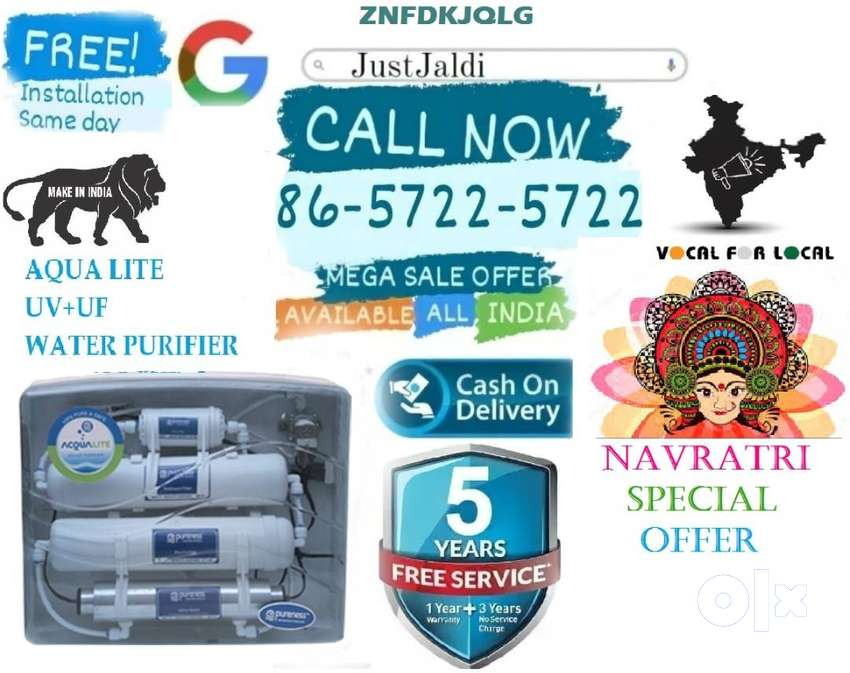 ZNFDKJQLG WATER purifier UF UV ultra filtration led.  FREE 5 SERVICES.