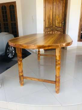 NEW TEAK WOOD 6 SEATER DINING TABLE