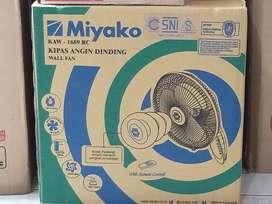 kipas angin dinding/wall fan miyako remote kaw 1689rc (sinar kita)