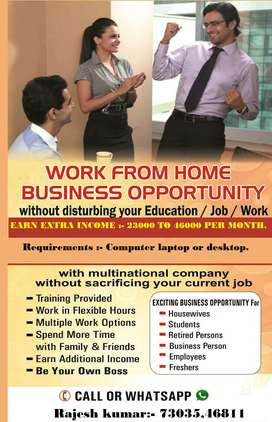 Earn Income for your Pocket Money with Online work from home.