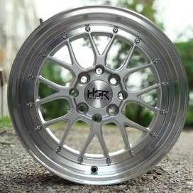 Velg HSR LEMANS R15 racing Toyota Agya, Brio rs, Calya, Vios, mobilio