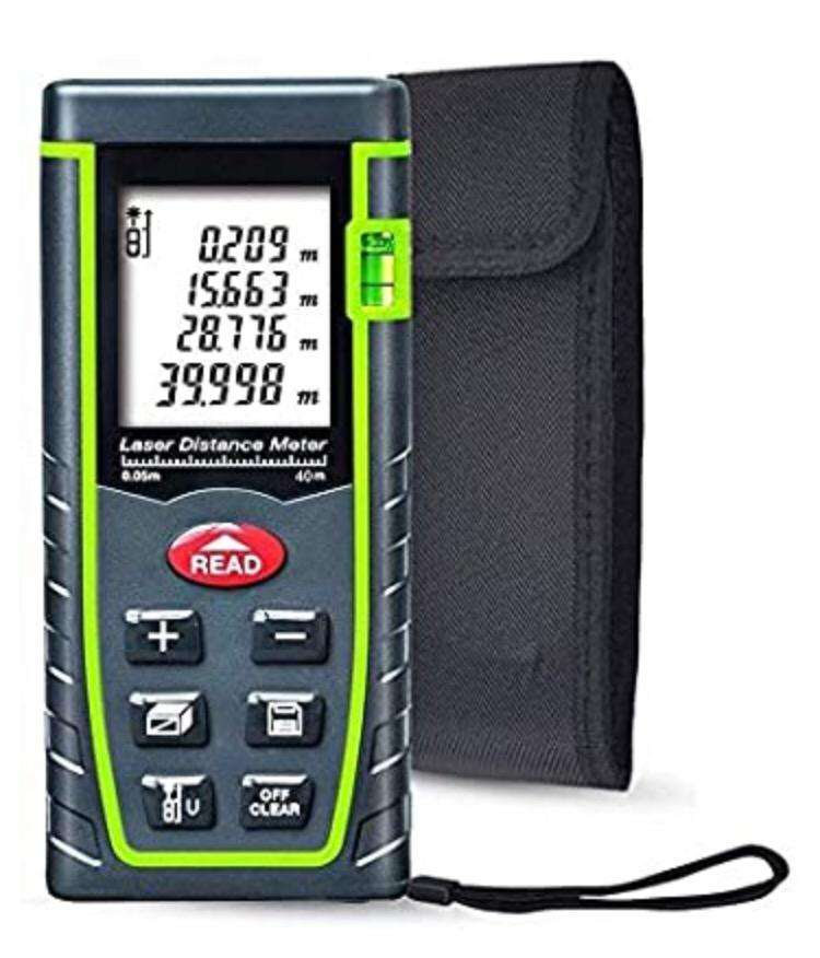 Laser Distance Measure, 131ft Handheld M/in/Ft Laser Distance Meter 0