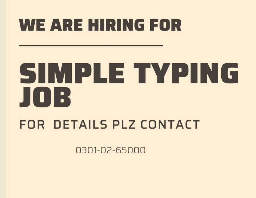 SIMPLE TYPING JOB AVAILABLE HERE