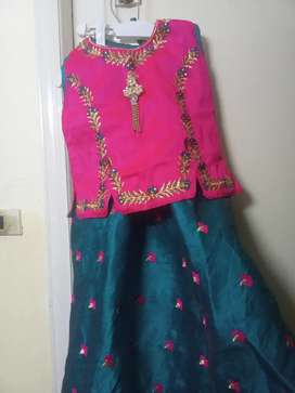 Indian raw silk with tilla work