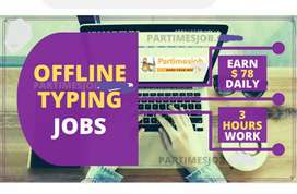 New male and female people required for typing job