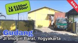 GUDANG Jl IMOGIRI BARAT Lt 2150m² LB 1850m², SHM-IMB. Kontainer MASUK.