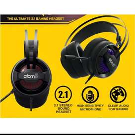 Headset gaming atom 5  (7 coulor lightening with full satting EFX)