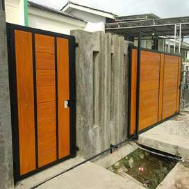 pagar bahan wood plank GRC