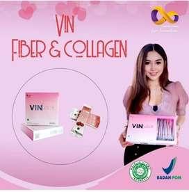 Vin suplemen fiber dan collagen