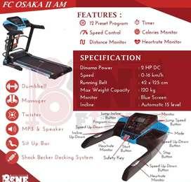 big treadmill elektrik osaka fit class J-660 automatic incline