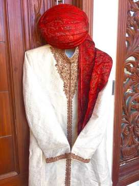 Designer Wedding Sherwani with kulla and khussa