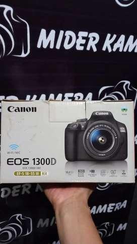 Canon 1300D wifi kit 18-55 is ii fulshet box
