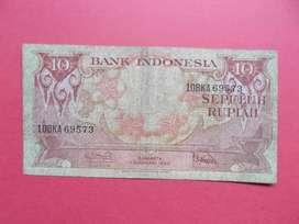 Uang kuno Kertas Rp 10 Tahun 1959