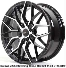 Promo velg murah BOTAWA 7236 HSR R15X65 H8X100-114,3 ET45 BMF