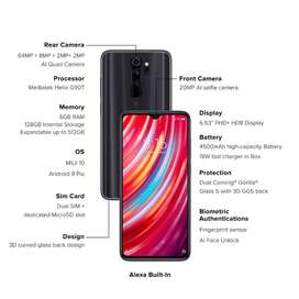 Redmi Note 8 Pro with Smooth gaming experience with powerful with warr