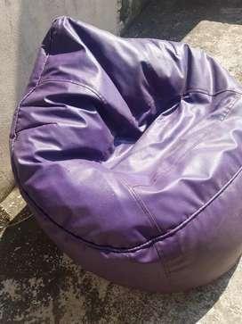 bean bag purple colour