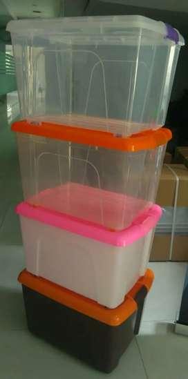 Box container Plastik untuk parcel lebaran ukuran 50 liter transparan