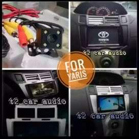 For YARIS dvd 2din android link led 7inc+camera hd mumer grosir gan