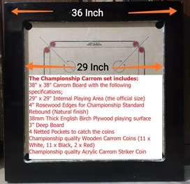 Carrom Board 36*36 - 38mm. Smooth club board for sale