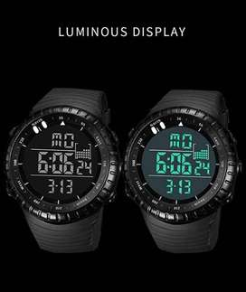 Men's Digital Sports Watch Waterproof Tactical Watch with LED