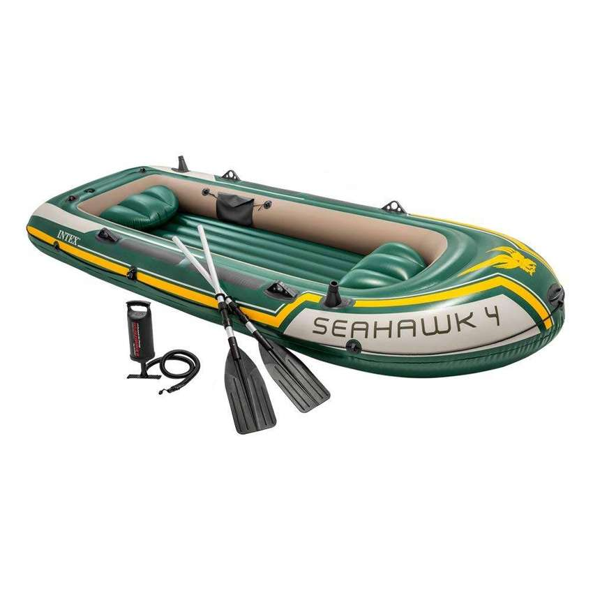 "INTEX Seahawk 2 Boat Set With Oars And Pump 2 Person ( 93"" x 45"" x 16"" 0"