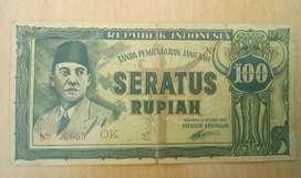 Uang Kertas Kuno 1945 Bergambar Presiden Soekarno