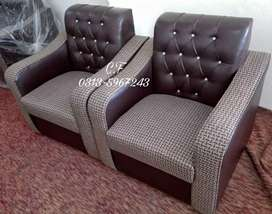 Chocolate brown 7seater sofa set..