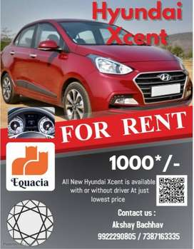 Self Drive All new Hyundai Xcent at just ₹ 1000/-