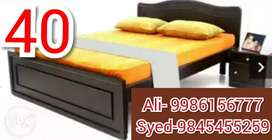 New mini double cot 4 X 6 without storage 4250/-