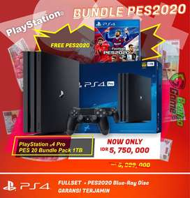 PLAYSTATION 4 PS4 PRO 4K HDR 1 TB BUNDLE PES2020 ORIGINAL